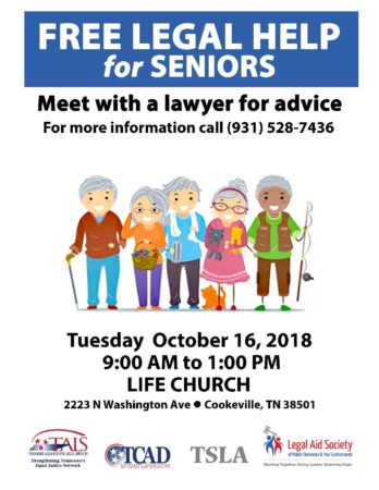 Cookeville Legal Advice Clinic with TSLA @ Life Church | Cookeville | Tennessee | United States